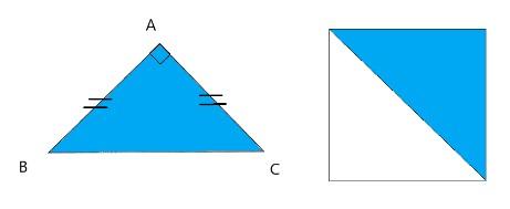 Calcul De L Aire Ou Surface D Un Triangle Rectangle Cours